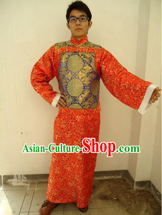 Ancient Clothes For Men Emperor Dress Groom Chinese Traditional Costume Qing Dynasty
