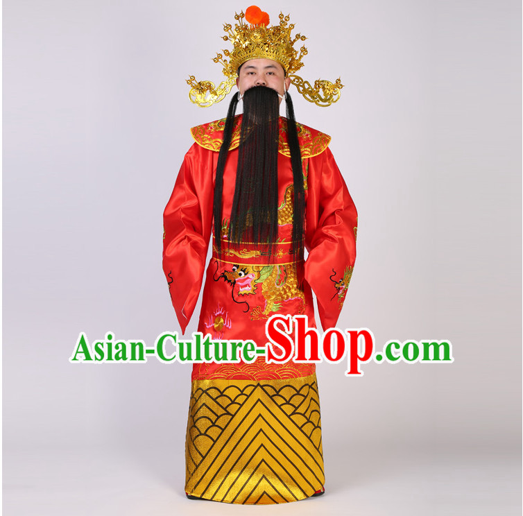 Ancient Mammon Clothes Celebration Show God Of Fortune Clothing God Of Wealth Costume For Men