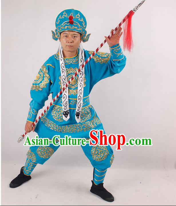 Beijing Opera Drama Supplies Costumes Player Male Soldiers Clothing Yueju Men Clothing
