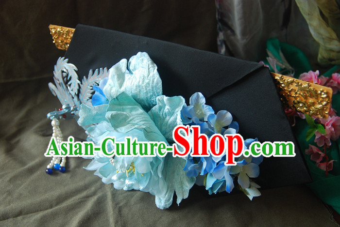 Chinese Ancient Style Hair Jewelry Accessories, Hairpins, Headwear, Headdress, Hair Fascinators, Qing Dynasty Imperial Empress Handmade Phoenix Hair Accessories for Women
