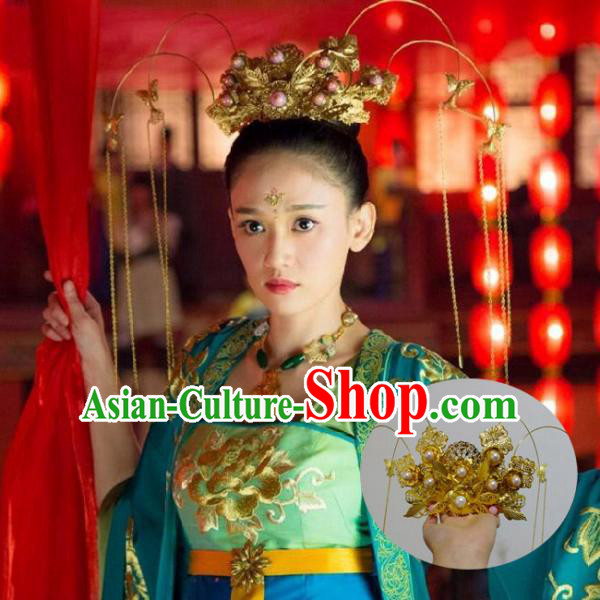 Chinese Ancient Style Hair Jewelry, Dongfang Bubai Accessories, Hairpins, Hanfu Suits, Wedding Bride Imperial Empress Accessories for Women