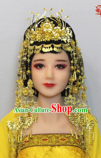 Chinese Ancient Style Hair Jewelry Accessories, Hairpins, Xinjiang Ethnic Chinese Bride Headdress, Exotic Princess In Nepal Accessories for Women