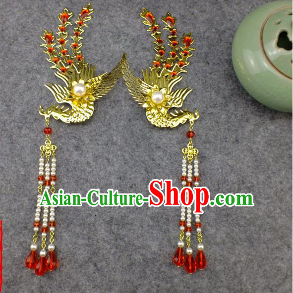 Chinese Ancient Style Hair Jewelry Accessories, Xiuhe Suit Tang Dynasty Hairpins, Headwear, Headdress, Hair Fascinators for Women