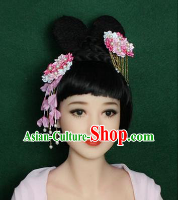 Chinese Ancient Style Hair Jewelry Accessories, Hairpins, Han Dynasty Princess Hanfu Xiuhe Suit Wedding Bride Hair Accessories for Women