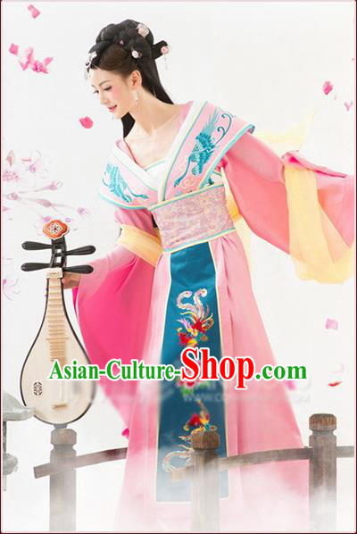 Ancient Chinese Palace Empress Costumes Complete Set, Tang Dynasty Ancient Palace Princess Dress Suits For Women