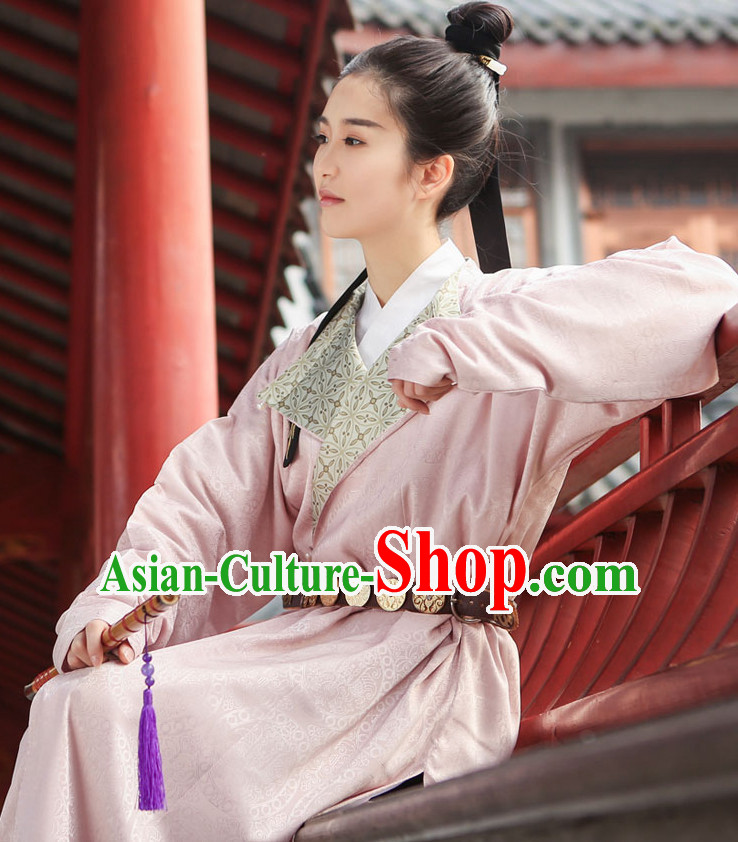 Chinese Style Dresses Kimono Dress Tang Dynasty Outfit Complete Set for Men and Women