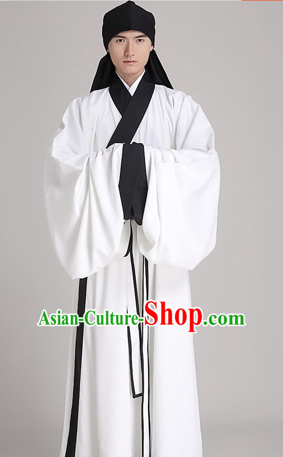 Chinese Style Dresses Kimono Dress Han Dynasty Outfit Complete Set for Men