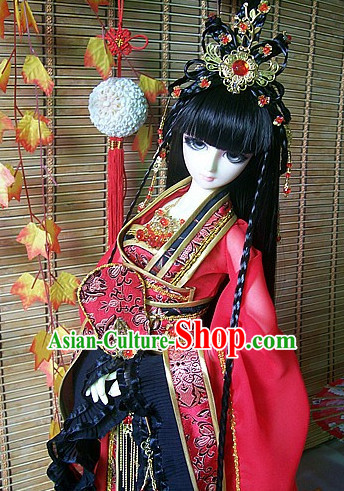 Ancient Chinese Princess Queen Empress Headwear Headpieces Hair Jewelry Set