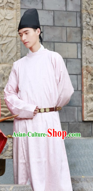 Chinese Style Dresses Kimono Dress Tang Dynasty Outfits and Hat Complete Set for Men