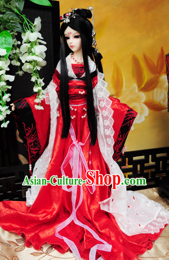 Chinese Style Dresses Chinese Princess Clothing Clothes Han Chinese Costume Hanfu for Women Adults Children