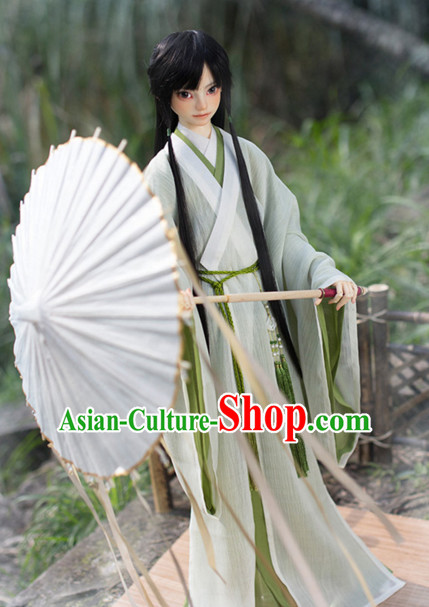 Chinese Style Dresses Chinese Lover Clothing Clothes Han Chinese Costume Hanfu for Men Adults Children