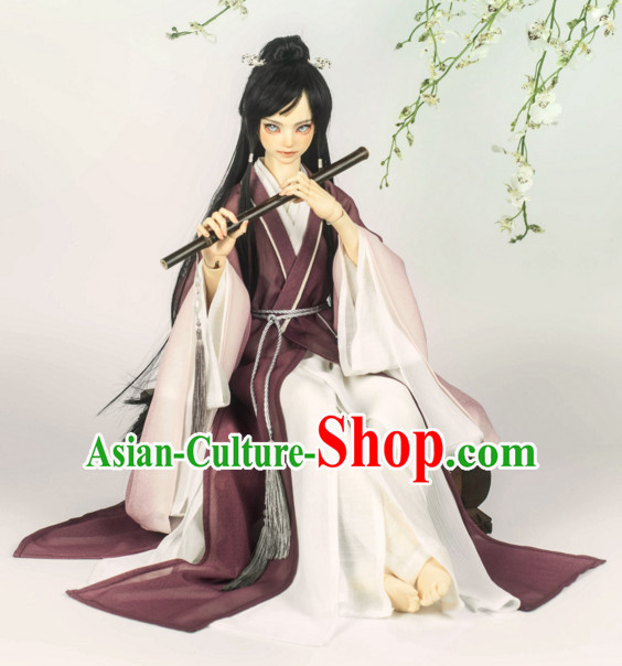 Chinese Style Dresses Chinese Musician Clothing Clothes Han Chinese Costume Hanfu for Men Adults Children