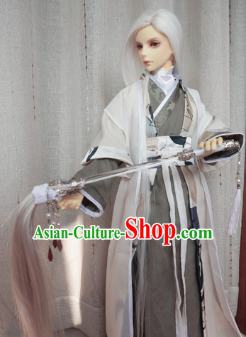 Chinese Style Dresses Chinese Taoist Clothing Clothes Han Chinese Costume Hanfu for Men Adults Children