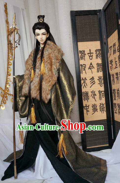 Chinese Style Dresses Chinese Swordmen Clothing Clothes Han Chinese Costume Hanfu and Hair Jewelry Complete Set for Men Adults Children