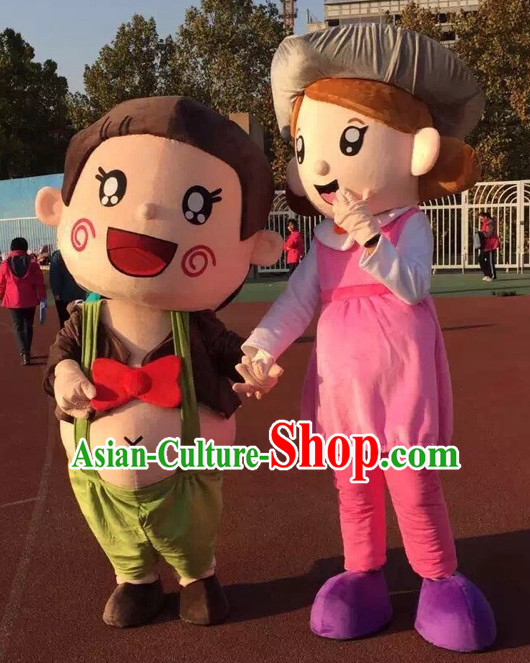 Free Design Professional Custom Made Mascot Costume Customized Mascots Costumes Happy Boy and GirlMascot Costumes