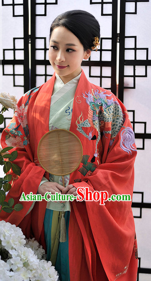 Chinese Style Dresses Kimono Dress Han Dynasty Empress Princess Queen Outfits Complete Set for Women