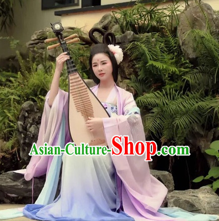 Chinese Style Dresses Kimono Dress Tang Dynasty Empress Princess Queen Outfits Complete Set for Women