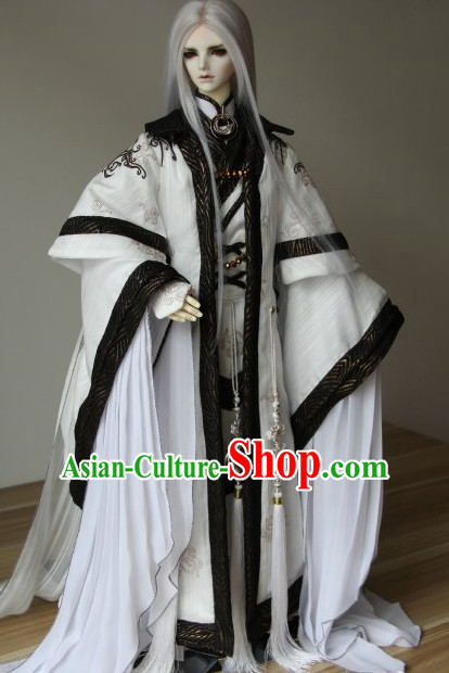 Chinese Ancient Guzhuang Prince Costumes Complete Set for Men