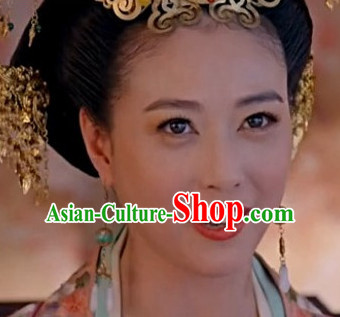 Ancient Chinese Style Princess Empress Earrings for Women Girls Adults Children