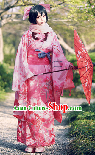 Japanese Princess Kimono Clothing Complete Set for Women