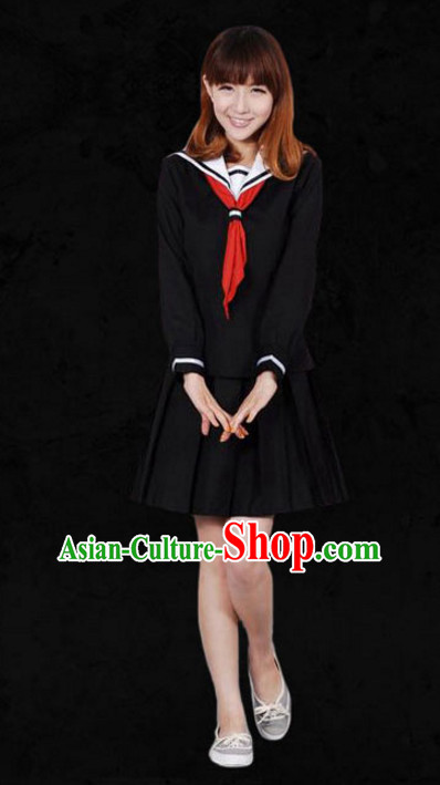 Japanese Traditional Student Outfits Complete Set for Women