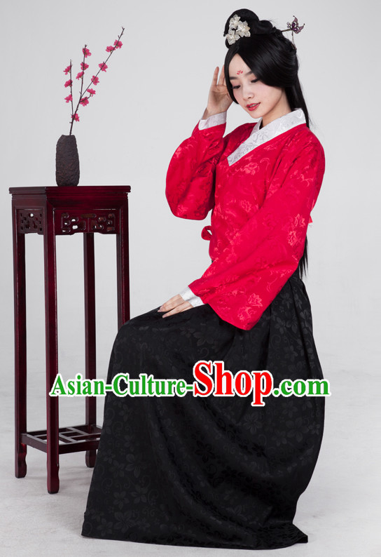 Chinese Ming Dynasty Traditional Suits Complete Set for Women Girls Adults