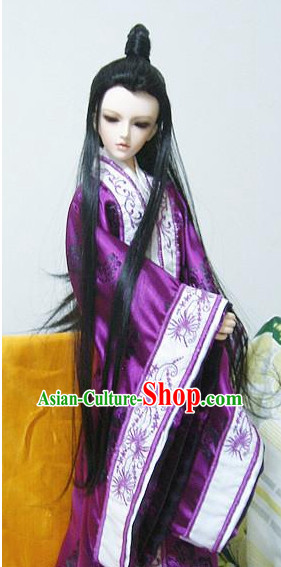 Chinese Classical Actor Hanfu Costumes Complete Set for Men