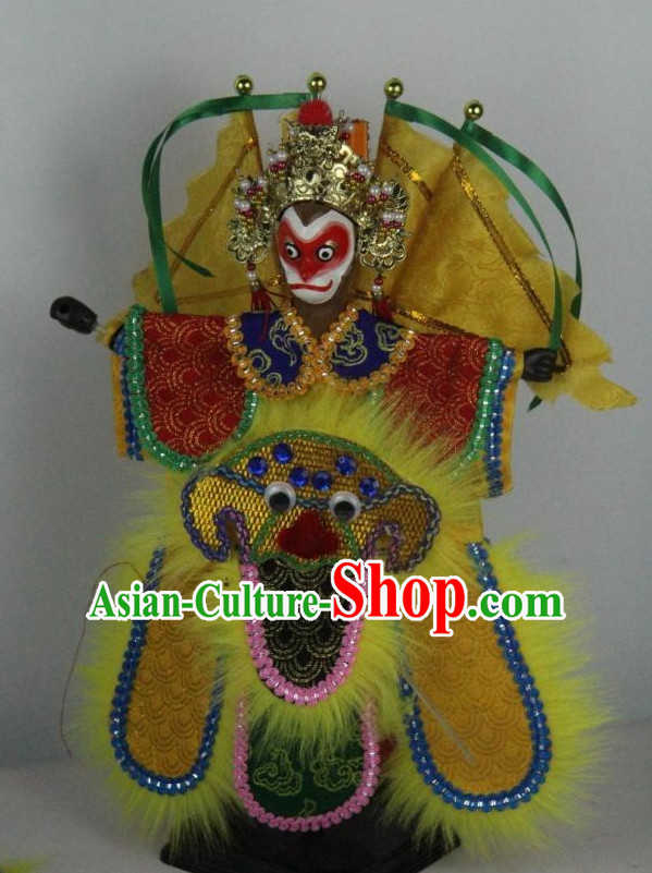 Traditional Chinese Ancient Handmade Monkey King Sun Wukong Glove Puppet Hand Marionette Puppet Hand Puppets