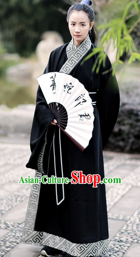Ancient Chinese Han Dynasty Clothing Complete Set for Men