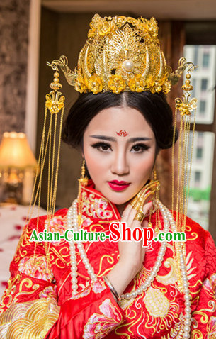 Top Chinese Classic Wedding Headpieces Accessories for Brides