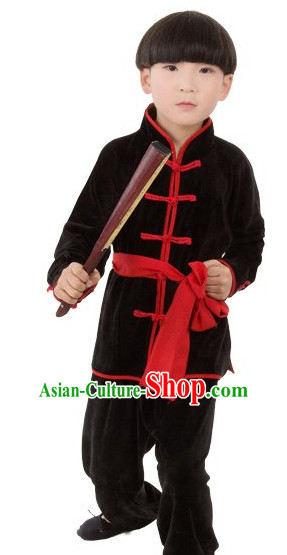 Chinese Traditional Kung Fu Costume for Kids Girls Boys
