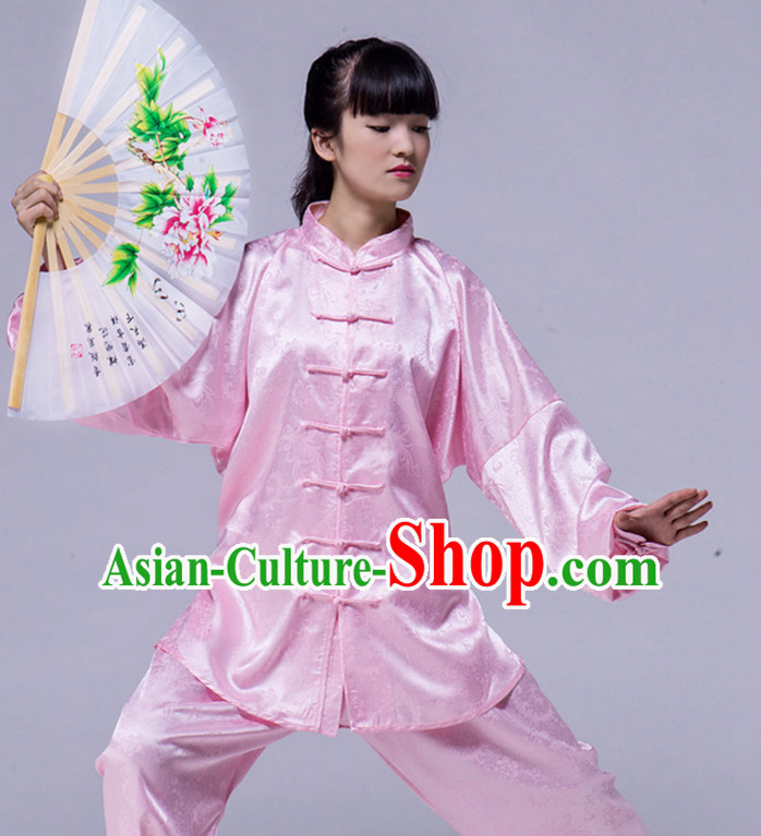 Chinese Asian Mandarin Kung Fu Martial Arts Practice and Competition Costume Wing Chun Apparel Taiji Tai Chi Uniform for Adults Children Men Women Boys Girls