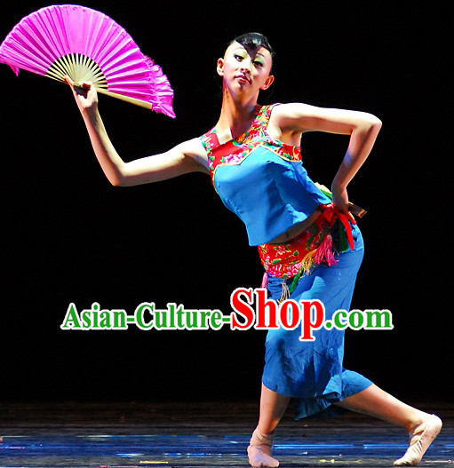Chinese Folk Dance Costumes for Women or Kids