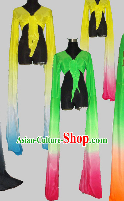 Color Changing Chinese Classical Water Sleeve Dance Costumes for Women Adults Kids