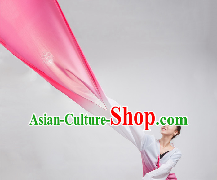 Color Transition Chinese Classical Water Sleeves Long Sleeves Dancing Costume for Women or Girls