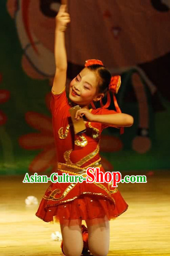 Professional Chinese New Year Dance Costume for Women Girls Adults Kids
