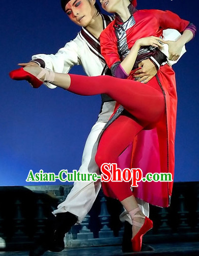Professional Chinese Red Mandarin Dance Costume for Women Adults Kids