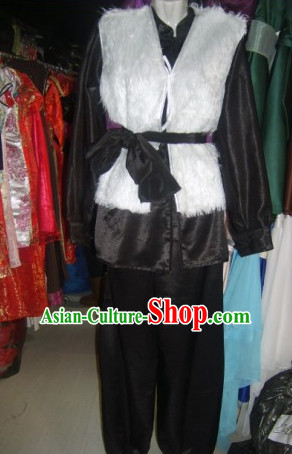 Chinese Traditional Poor Farmer Costume Complete Set for Men