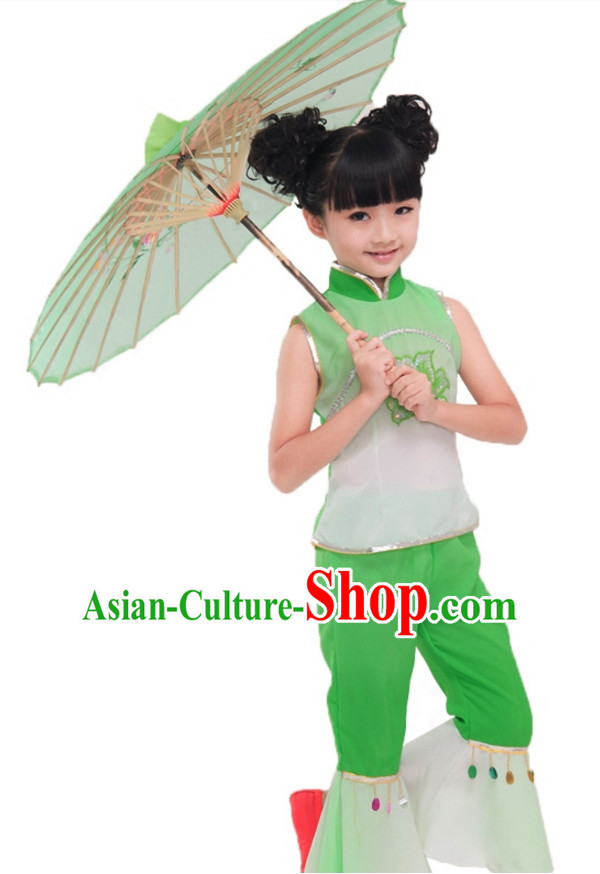 Chinese Folk Dance Costume for Girls Kids Children