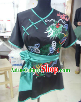 Top Embroidered Tai Chi Taiji Kung Fu Gongfu Martial Arts Wu Shu Wushu Championship Competition Uniforms for Adults and Kids