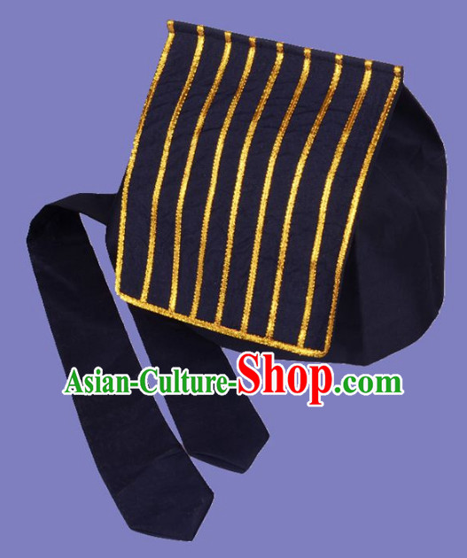 Chinese Folk Black Taoist Hat