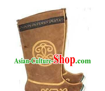 Asian Chinese Film Handmade Ancient Boots for Men Boys Adults Children