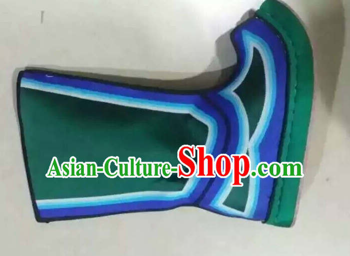 Asian Chinese Ancient Film Handmade Boots for Men Boys Adults Children