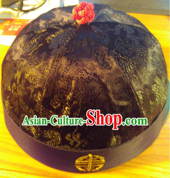 Traditional Chinese Black Hat for Men