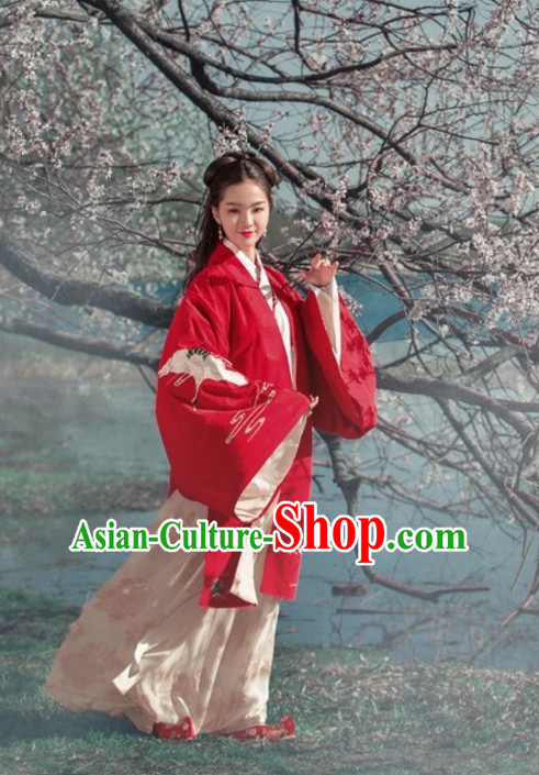Ancient Chinese Beauty Embroidered Garment for Women