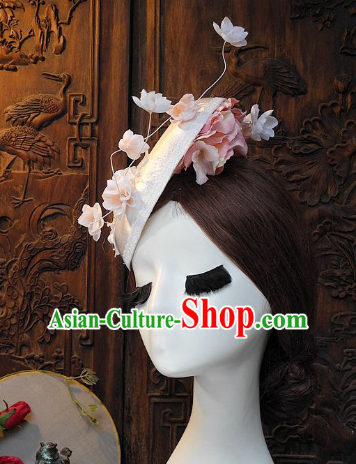 Handmade Flower Spring Hat Headpieces for Girls and Women