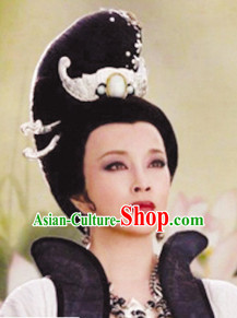 Chinese Ancient Queen Black Wig Wigs and Hair Accessories
