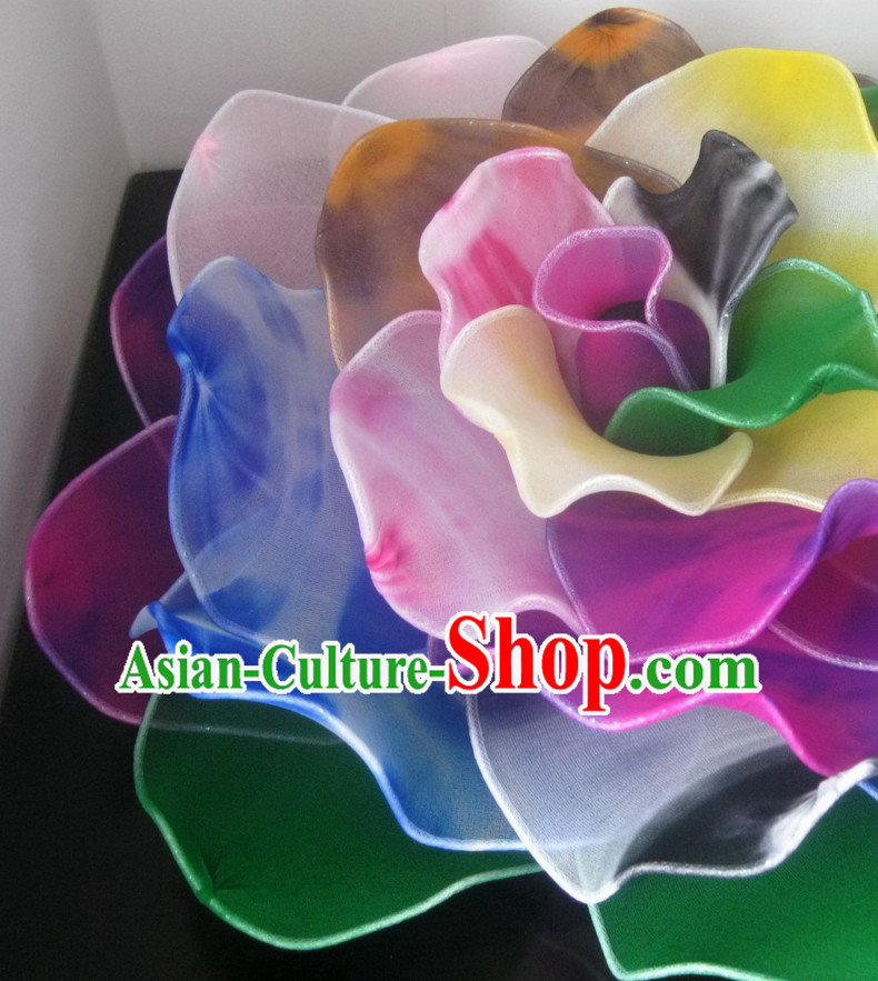 0.7 Meter Big Rainbow Color Rose Flower Dance Props Props for Dance Dancing Props for Sale for Kids Dance Stage Props Dance Cane Props Umbrella Children Adults