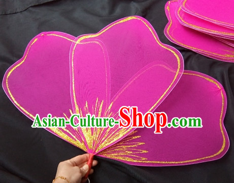 Peach Color Petal Fan Dance Props Props for Dance Dancing Props for Sale for Kids Dance Stage Props Dance Cane Props Umbrella Children Adults