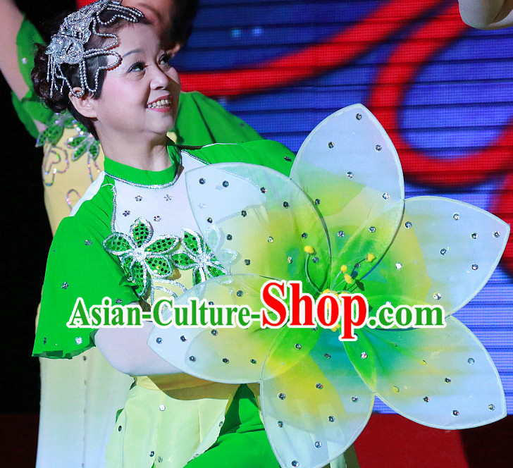 0.6 Meter Jasmine Flower Dance Props Props for Dance Dancing Props for Sale for Kids Dance Stage Props Dance Cane Props Umbrella Children Adults